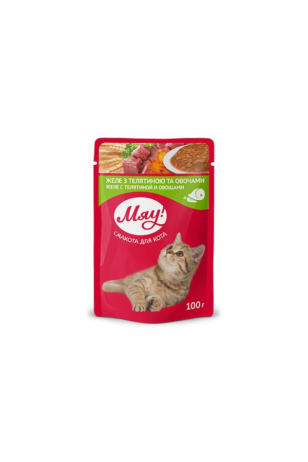 Miau! Cielęcina i Warzywa w Galaretce dla Kota 100 g
