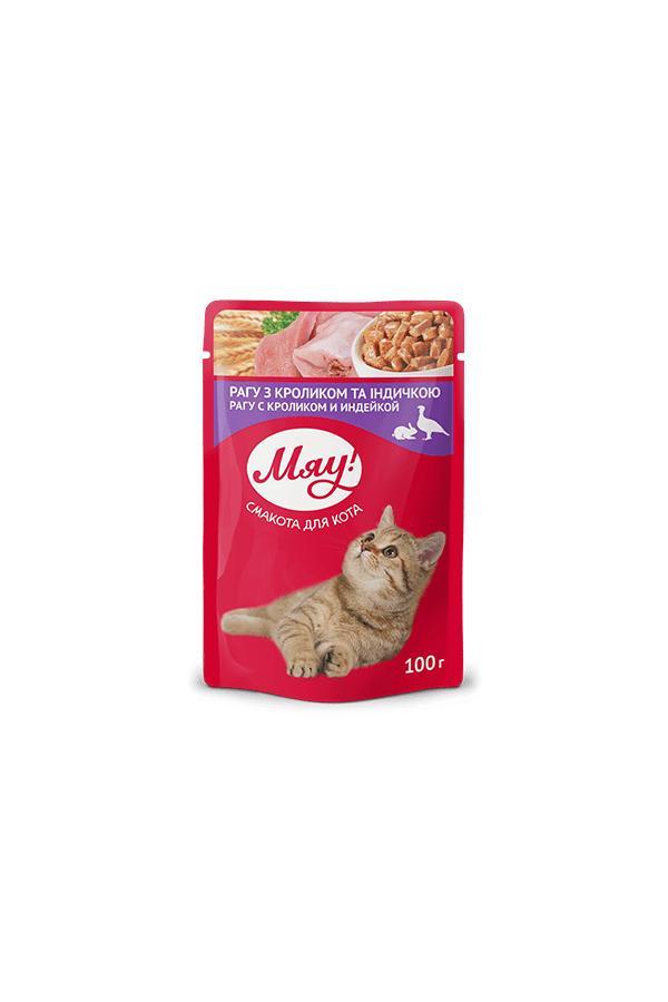 Miau! kot gulasz królik/indyk 100g saszetka