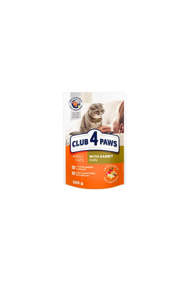 Club 4 Paws z Królikiem w Galaretce dla Dorosłych Kotów 20 x 100 g + 4 gratis