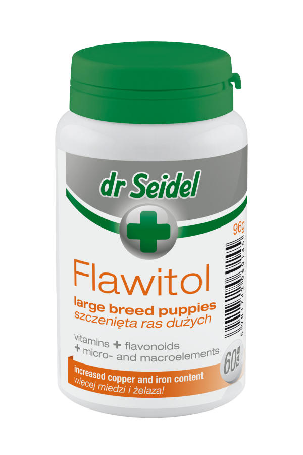Dr Seidel Flawitol dla Szczeniąt Dużych Ras 60 Tabletek