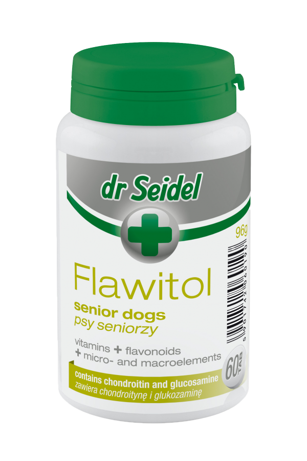 Dr Seidel Flawitol dla Psów Seniorów 60 Tabletek