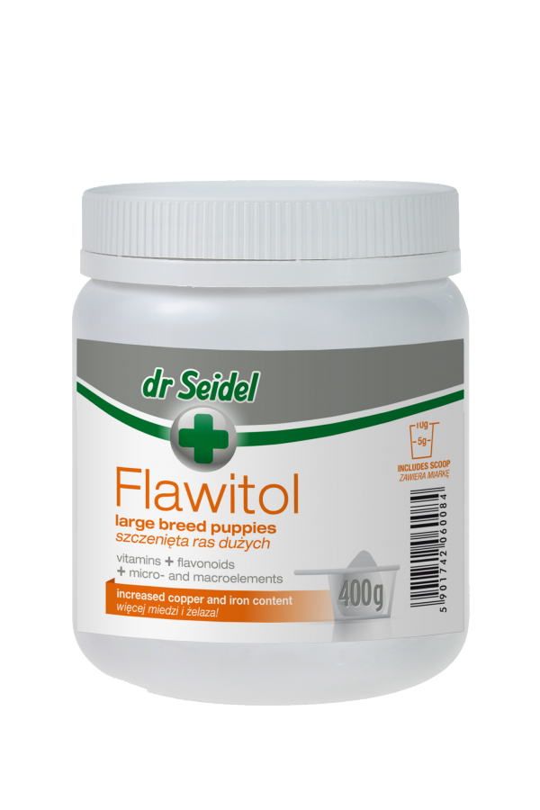 Dr Seidel Flawitol dla Szczeniąt Dużych Ras 400 g
