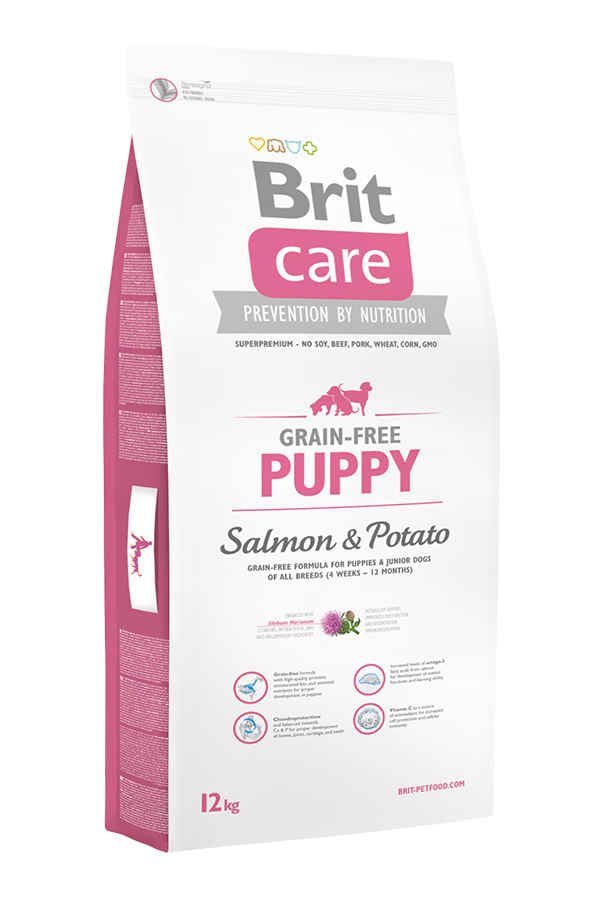 Brit Care Grain-Free Bezzbożowa Salmon & Potato Łosoś Puppy 12 kg