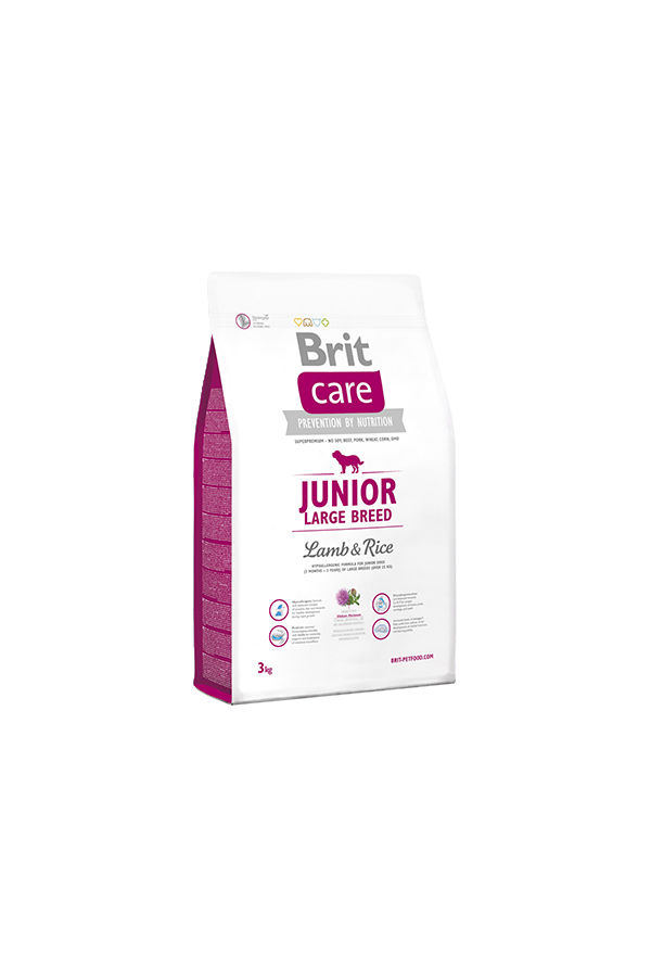 Brit Care Lamb & Rice Jagnięcina Junior Large Breed 3 kg