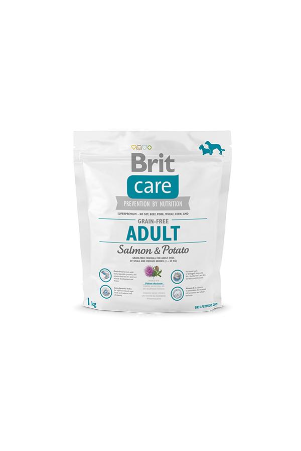 Brit Care Grain-Free Bezzbożowa Salmon & Potato Łosoś Adult 1 kg