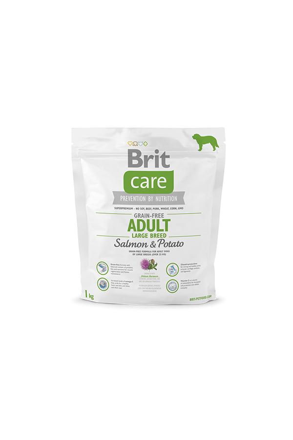 Brit Care Grain-Free Bezzbożowa Salmon & Potato Łosoś Adult Large Breed 1 kg
