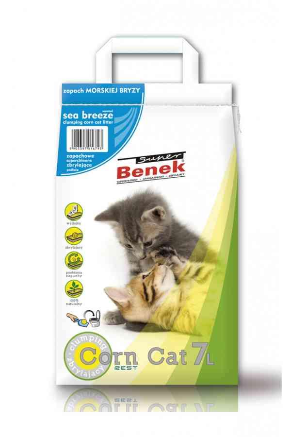 Super Benek Corn Cat o Zapachu Morskiej Bryzy 7 l