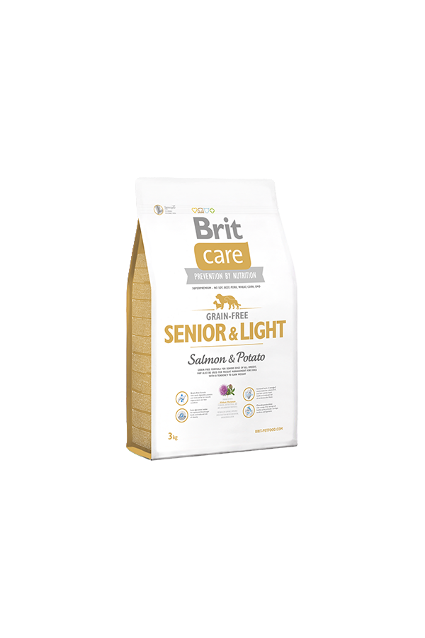 Brit Care Grain-Free Bezzbożowa Salmon & Potato Łosoś Senior & Light 3 kg