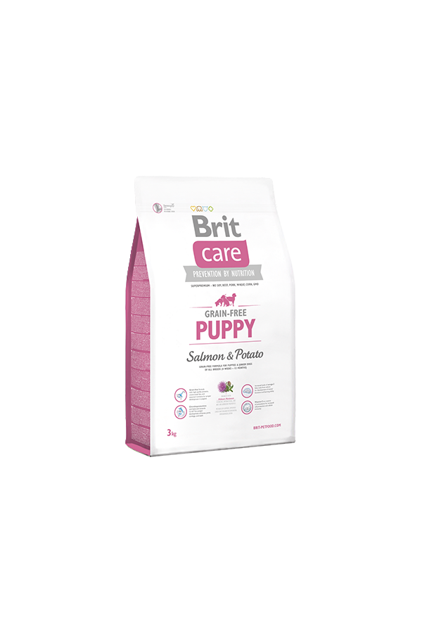 Brit Care Grain-Free Bezzbożowa Salmon & Potato Łosoś Puppy 3 kg
