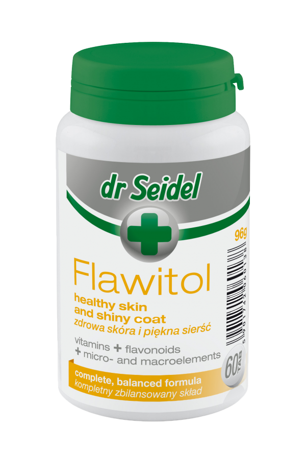Dr Seidel Flawitol Zdrowa Skóra dla Psów 60 Tabletek