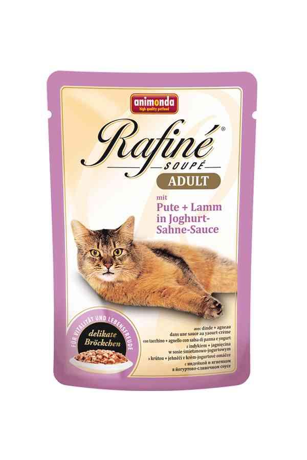 Animonda rafine soupe indyk z jagnięciną w sosie jogurtowo-śmietanowym 100 g