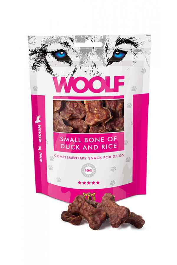 Brit Woolf Small Bone Of Duck And Rice Kaczka 100 g