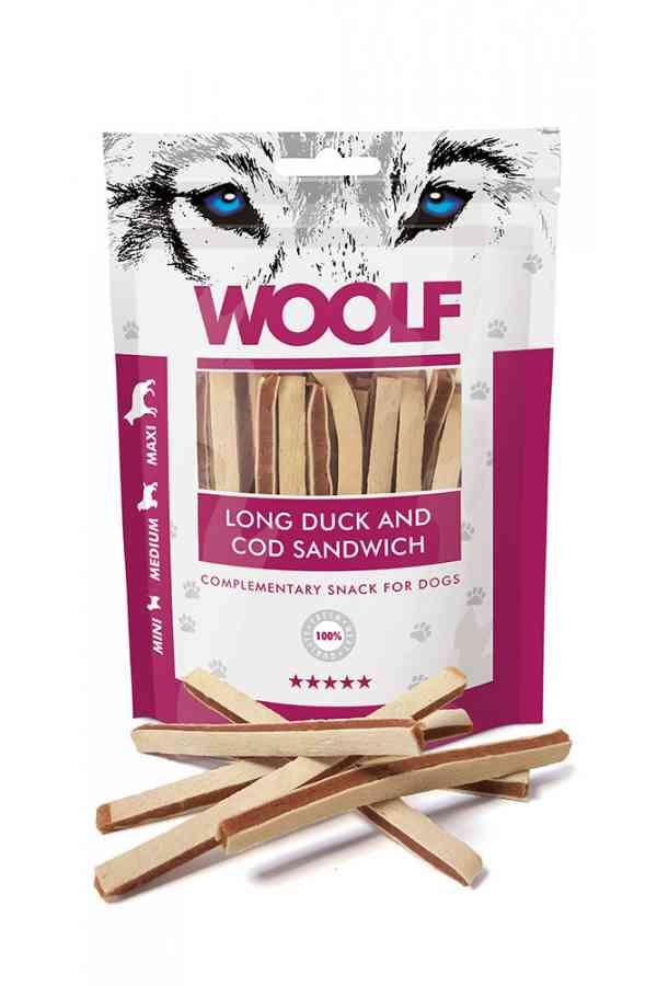 Brit woolf long duck and cod sandwich 100 g