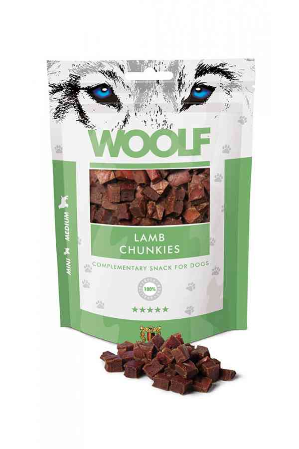Woolf Lamb Chunkies Jagnięcina 100 g