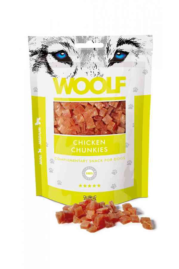 Woolf Chicken Chunkies Kurczak 100 g