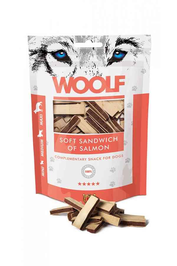 Brit Woolf Soft Sandwich Of Salmon Łosoś 100 g