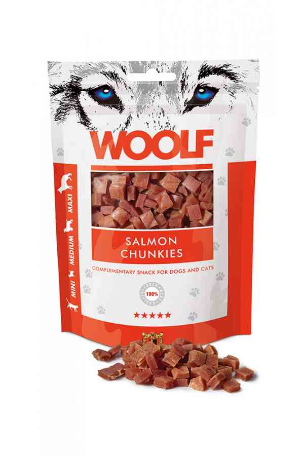 Brit Woolf Salmon Chunkies Łosoś 100 g