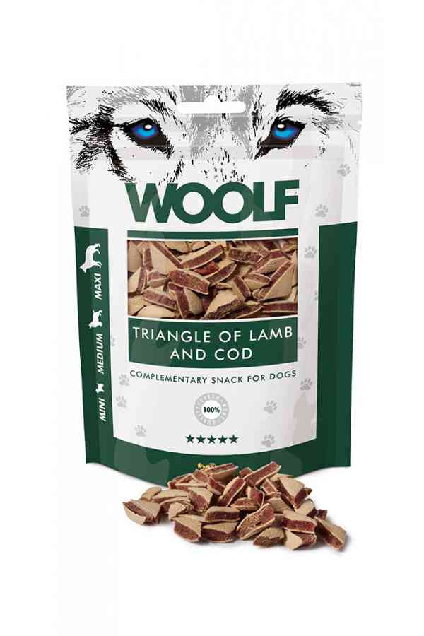 Woolf Lamb And Cod Triangle Jagnięcina Dorsz 100 g