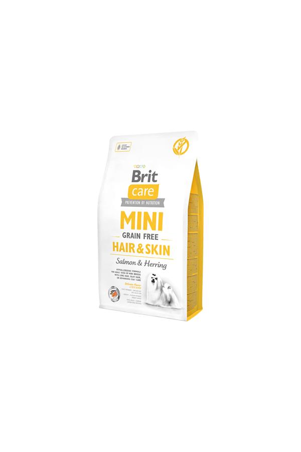 Brit Care Mini Grain-Free Bezzbożowa Hair & Skin Sierść Skóra 7 kg