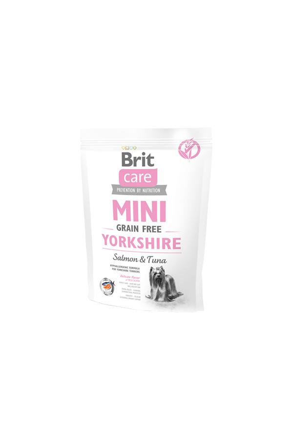 Brit Care Mini Grain-Free Bezzbożowa Yorkshire Łosoś Tuńczyk 400 g