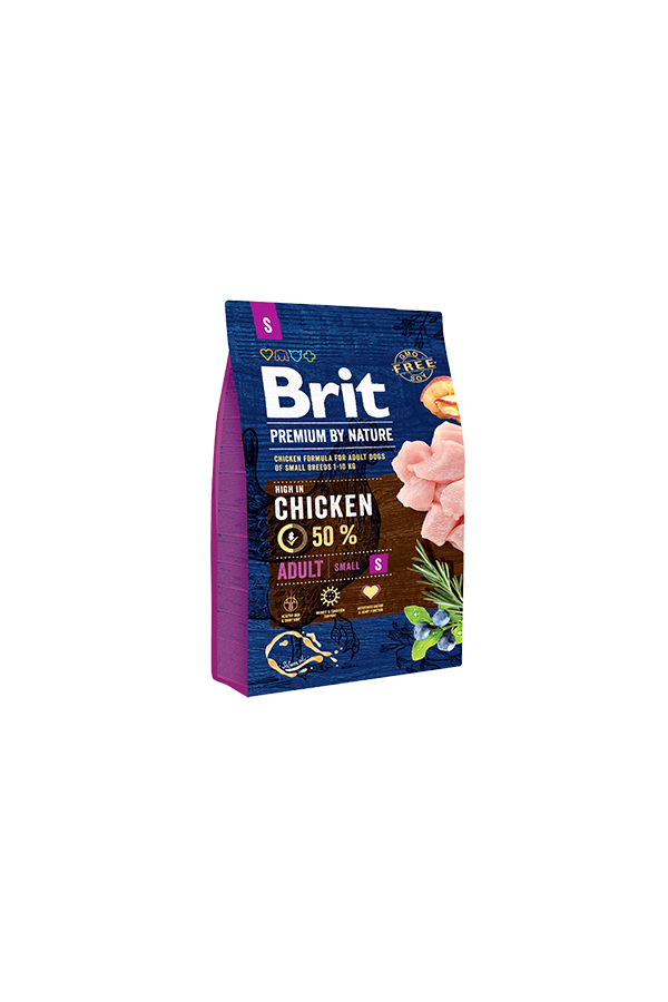 Brit Premium By Nature Chicken Kurczak Adult S 3 kg
