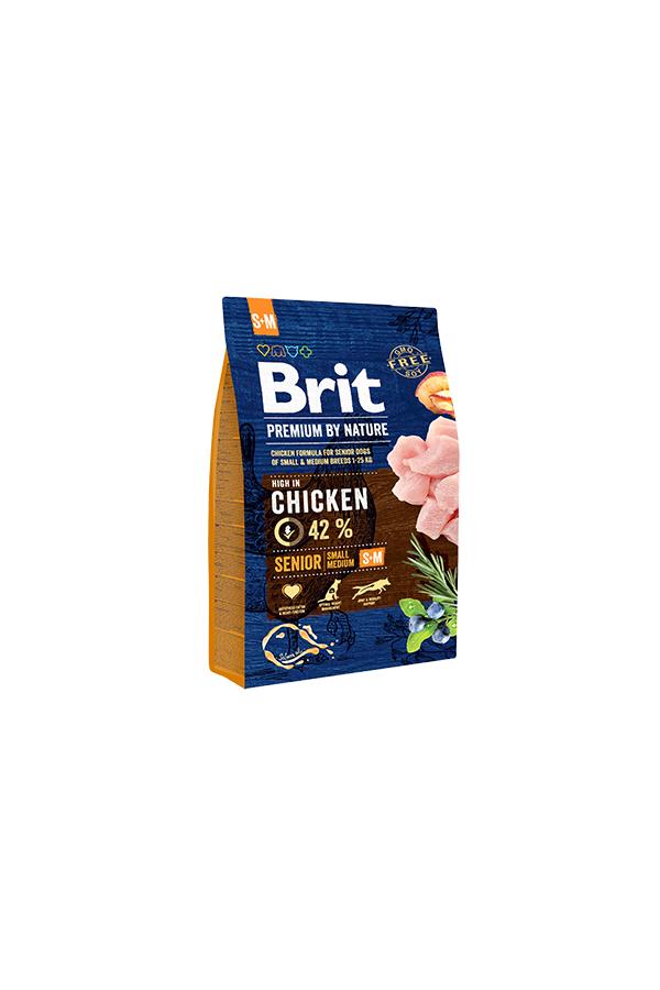 Brit Premium By Nature Chicken Kurczak Senior S+M  3 kg