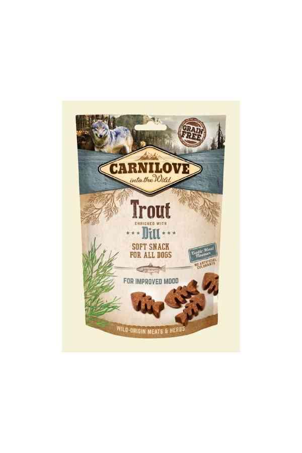 Brit Carnilove Improved Mood Snack Dobry Nastrój Trout with Dill Pstrąg Koperek 200 g