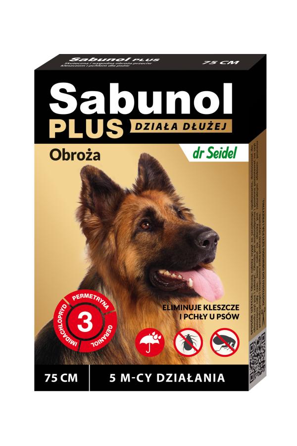 Sabunol Plus Obroża dla Psa Przeciw Pchłom i Kleszczom 75 cm - Działanie do 5 miesięcy