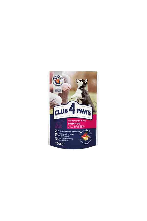 Club 4 Paws z Kurczakiem w Galaretce dla Szczeniąt 100 g