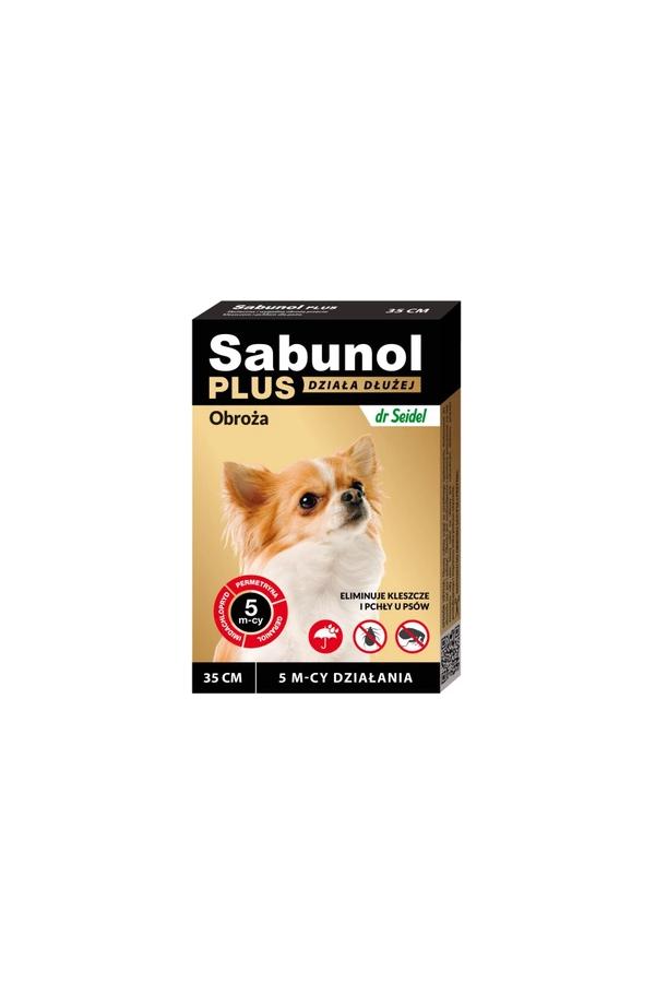 Sabunol Plus Obroża dla Psa Przeciw Pchłom i Kleszczom 35 cm - Działanie do 5 miesięcy