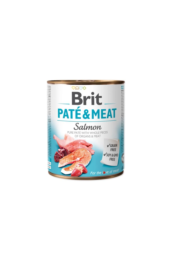 Brit pate & meat salmon 800 g