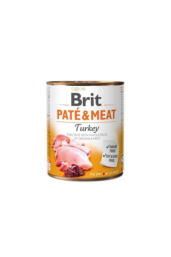 Brit Pate & Meat Turkey Indyk 800 g