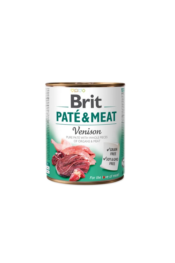 Brit Pate & Meat Venison Dziczyzna 800 g