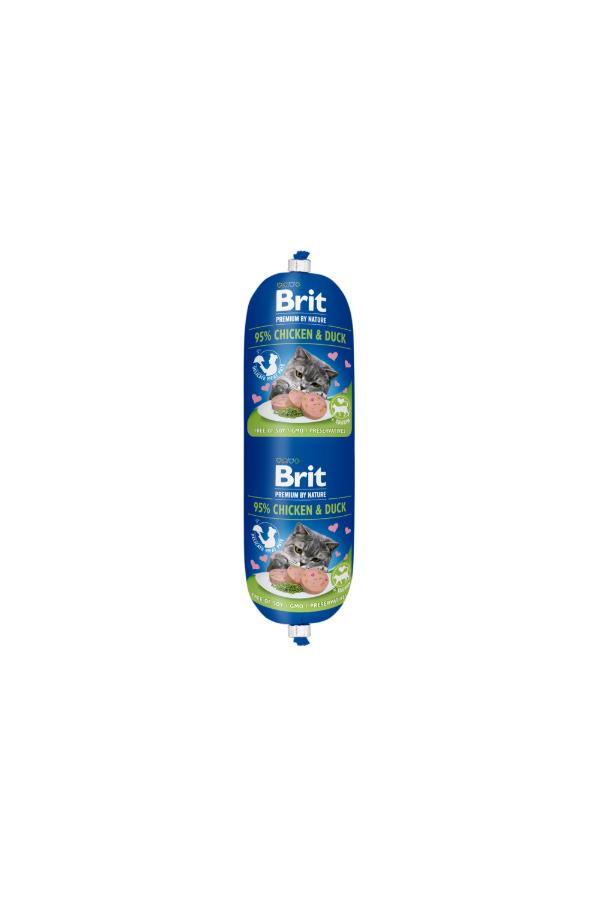 Brit premium by nature sausage chicken & duck 180 g