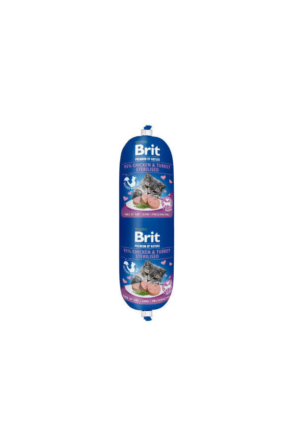 Brit premium by nature sausage sterilised chicken & turkey 180 g