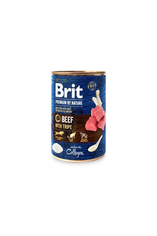 Brit premium by nature beef with tripe 400 g