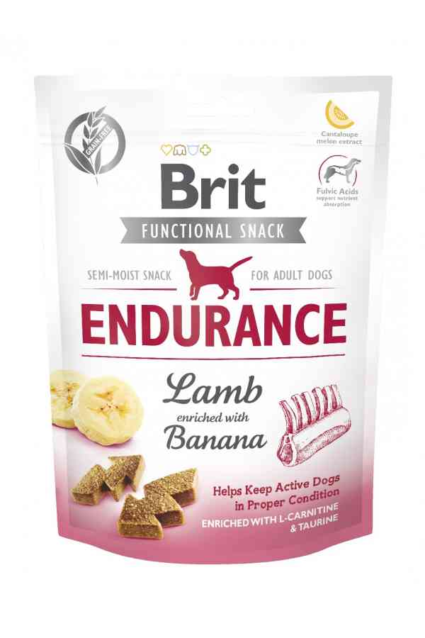 Brit Care Functional Snack Endurance Wytrzymałość Jagnięcina Banan 150 g