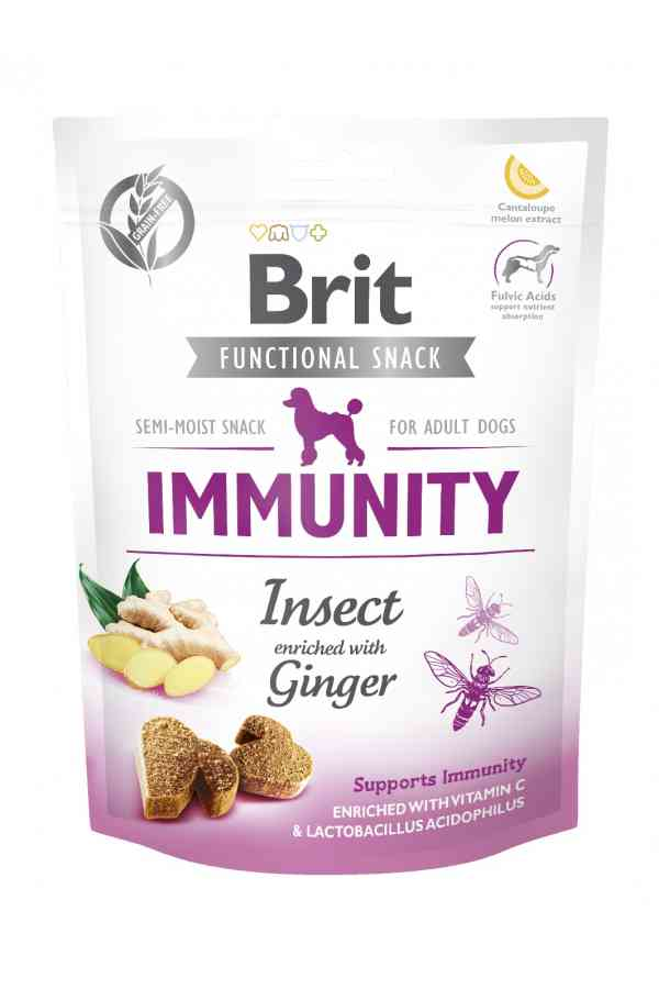 Brit Care Functional Snack Immunity Odporność Owady Imbir 150 g