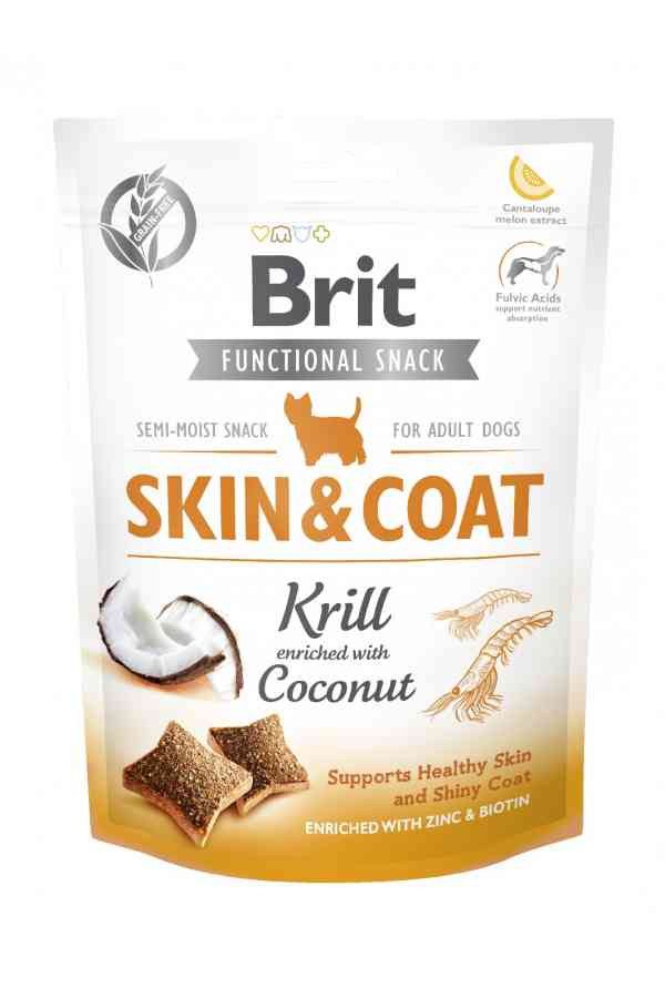 Brit care functional snack skin & coat krill 150 g