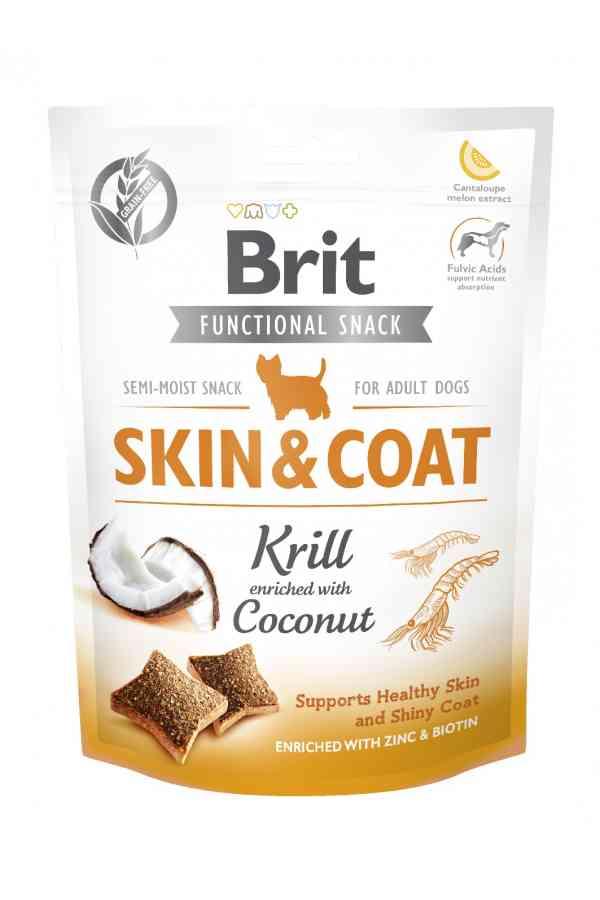 Brit Care Functional Snack Skin & Coat Sierść Krill Kryl Kokos 150 g