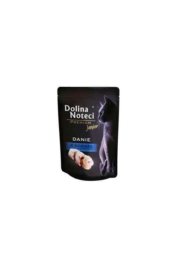 Dolina Noteci Premium Danie z Dorsza z Sardynką Junior Kot 85 g