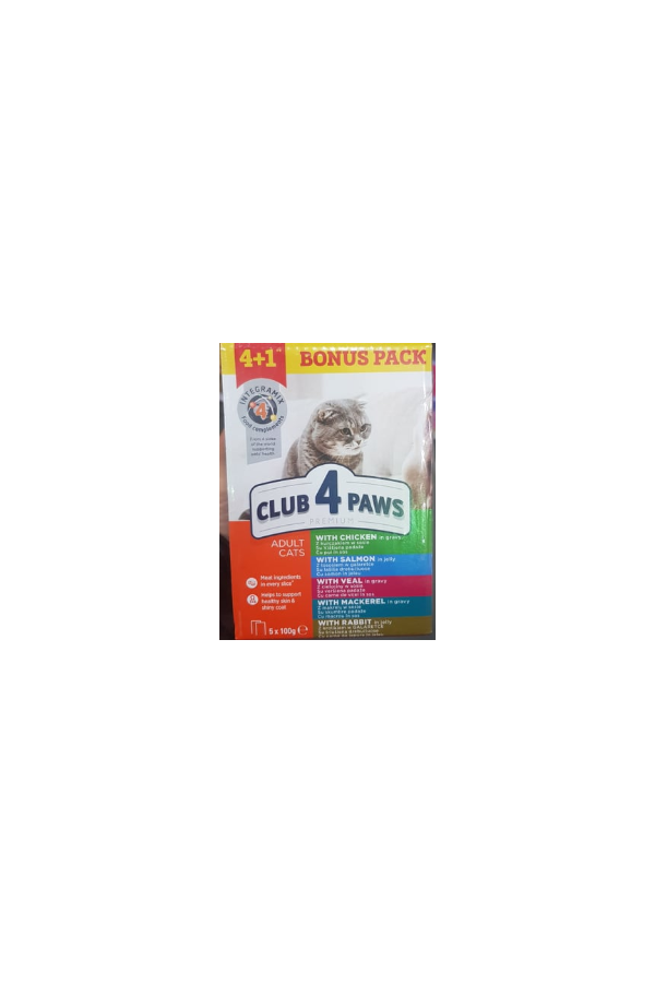 Club 4 Paws Mix Saszetek (4 + 1) 5 x 100 g