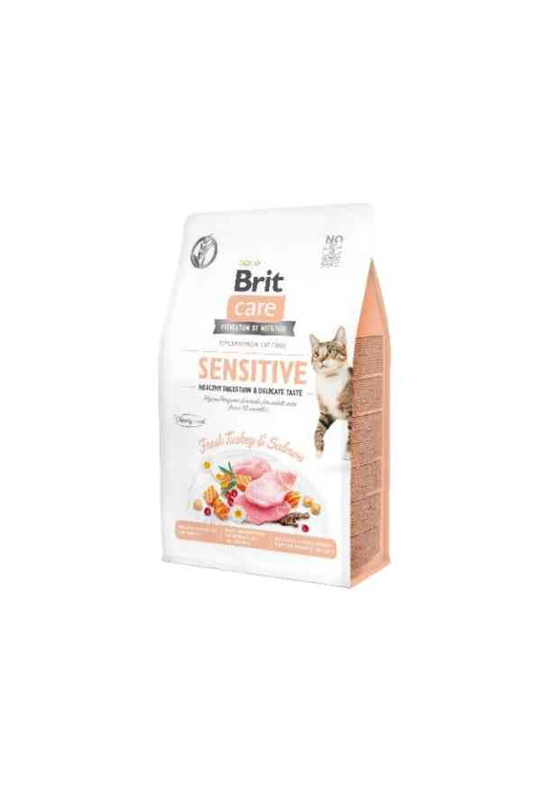 BRIT Care Grain Free Sensitive Healthy Digestion&Delicate Taste z Indykiem i Łososiem 7 KG