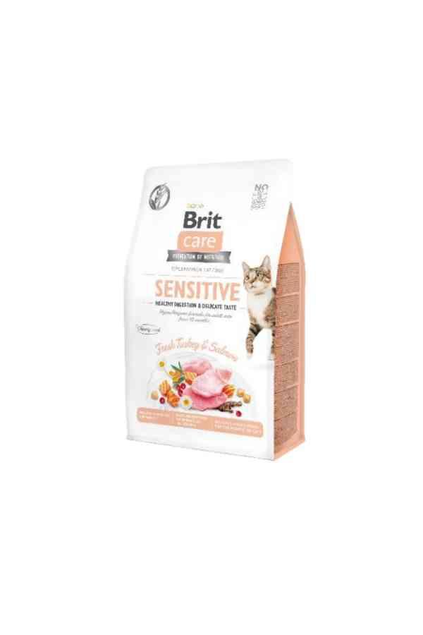 BRIT Care Grain Free Sensitive Healthy Digestion&Delicate Taste z Indykiem i Łososiem 0,4 KG