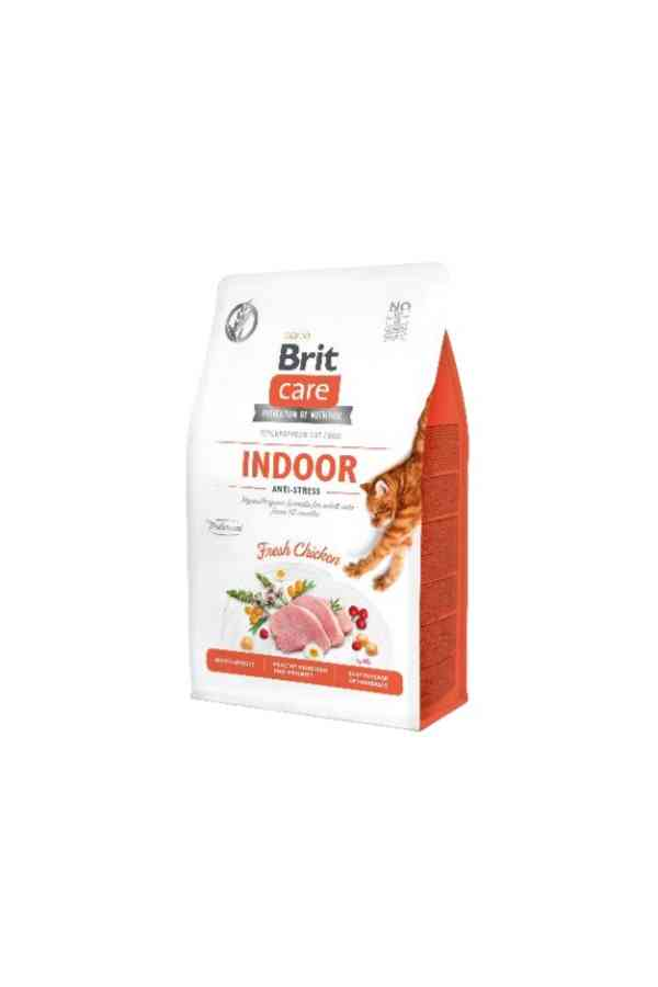 BRIT Care Grain Free Adult Indoor Antistress z Kurczakiem 0,4kg