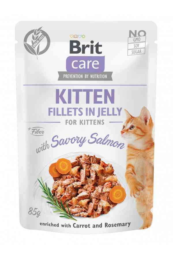 Brit Care Cat Savory Salmon in Jelly Kitten 85 g
