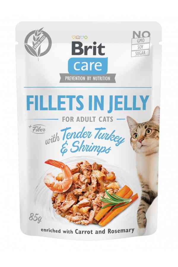 Brit Care Cat Tender Turkey & Shrimps in Jelly Indyk Krewetki 85 g