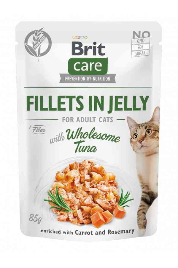 Brit Care Cat Wholesome Tuna Fillets in Jelly Tuńczyk 85 g