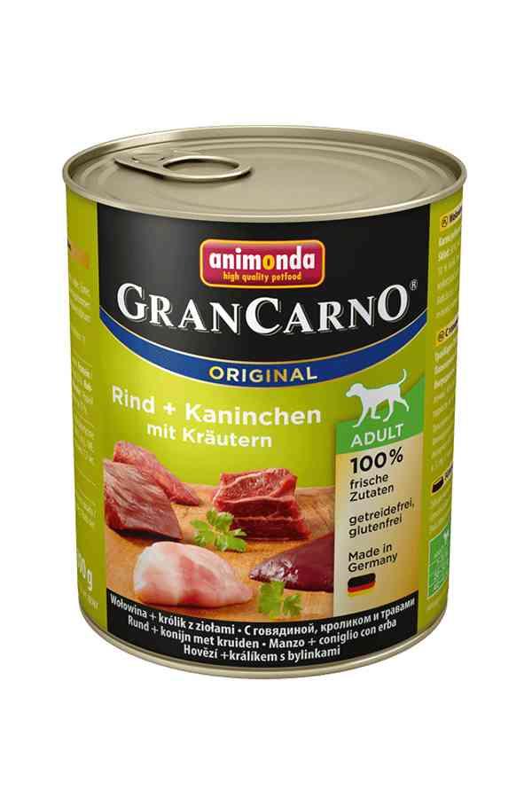 Animonda grancarno wołowina, królik, zioła 800 g