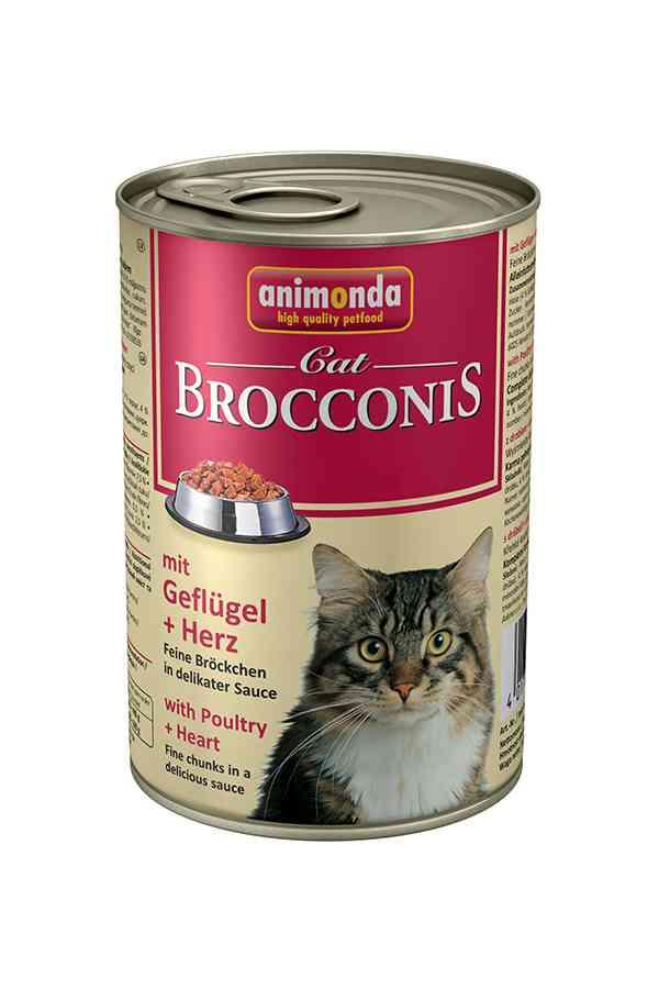 Animonda Brocconis Drób z Sercami 400 g